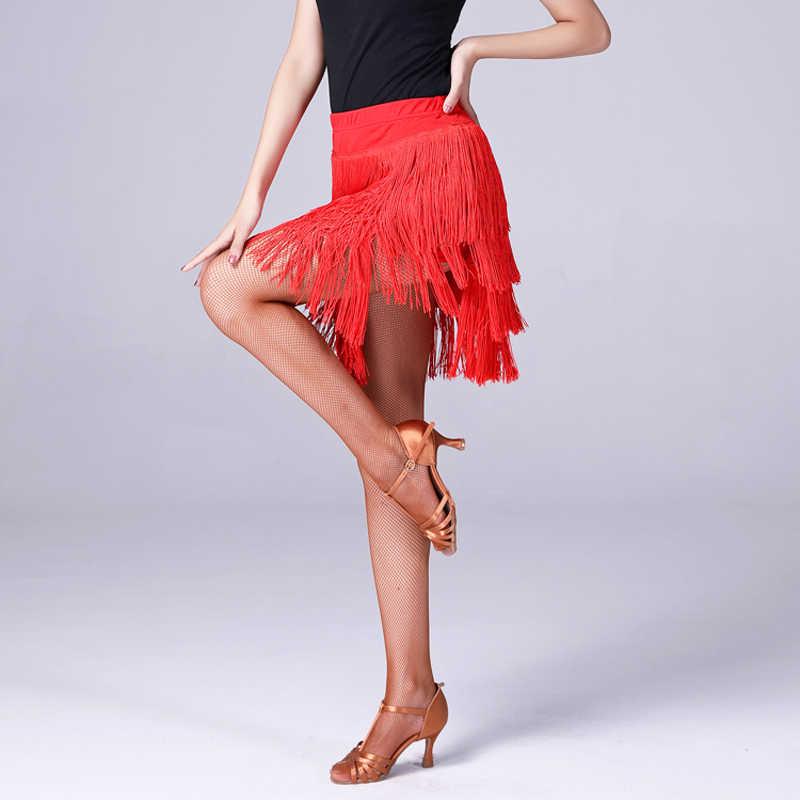 Юбка для латинских танцев, женское платье с бахромой для тренировок, платья для латинских соревнований, женские платья для Танго/самбы/костюмы для латиноамериканских танцев, DQL2104