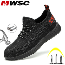 MWSC S3 Men Safety Work Shoes Boots Light Breathable Steel Toe Work Boo