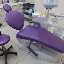 Royal Purple Dental Unit Chair Cover Sleeves Protector Covers Waterproof  PU Dentist Stool Headrest Backrest Cushion