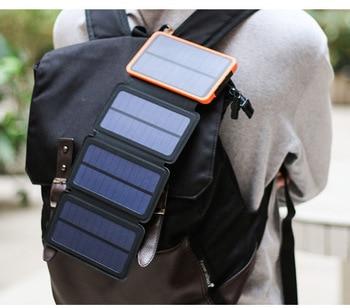 Solar power bank Folding Solar panel charger outdoor solar panel camping hiking solar charger battery 1