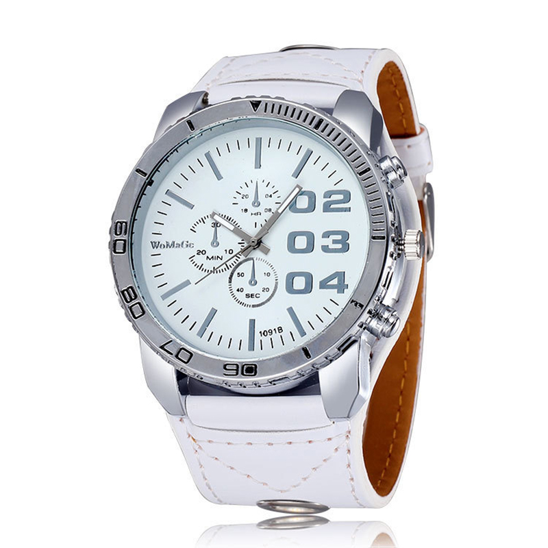 Female Business Watch Stylish Casual Ladies Big Dial Brown White Watches Mature Style Quartz Clock Relogio Feminino 2019
