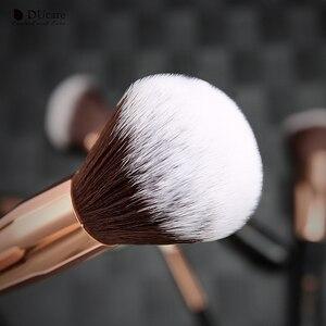 Image 3 - Набор кистей для макияжа DUcare, 9 шт., профессиональные кисти из козьей шерсти, основа пудра Контур, тени для век, искусственные