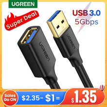 UGREEN USB Extension Cable USB 3.0 Cable for Smart Laptop PC TV Xbox One SSD USB 3.0 2.0 Extender Cord Mini Fast Speed Cable