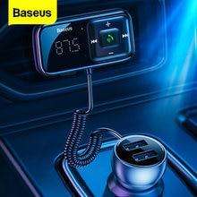 Baseus samochodowy nadajnik FM Bluetooth 5.0 3.1A ładowarka samochodowa USB AUX zestaw głośnomówiący bezprzewodowy zestaw samochodowy Auto Modulator radia FM odtwarzacz MP3