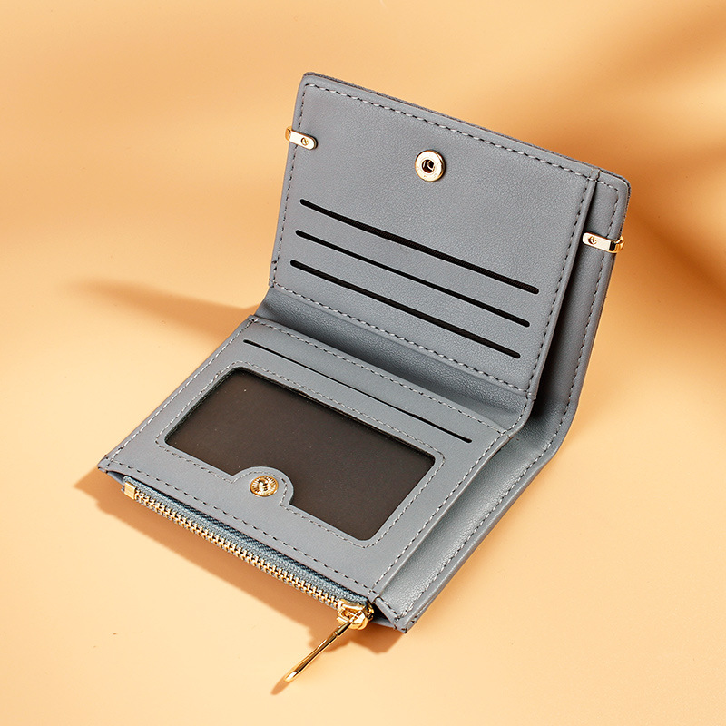 Women Wallets Leather Female Purse Mini Hasp Solid Multi Cards Holder Fashion Coin Short Wallets Slim Small Wallet Zipper Hasp
