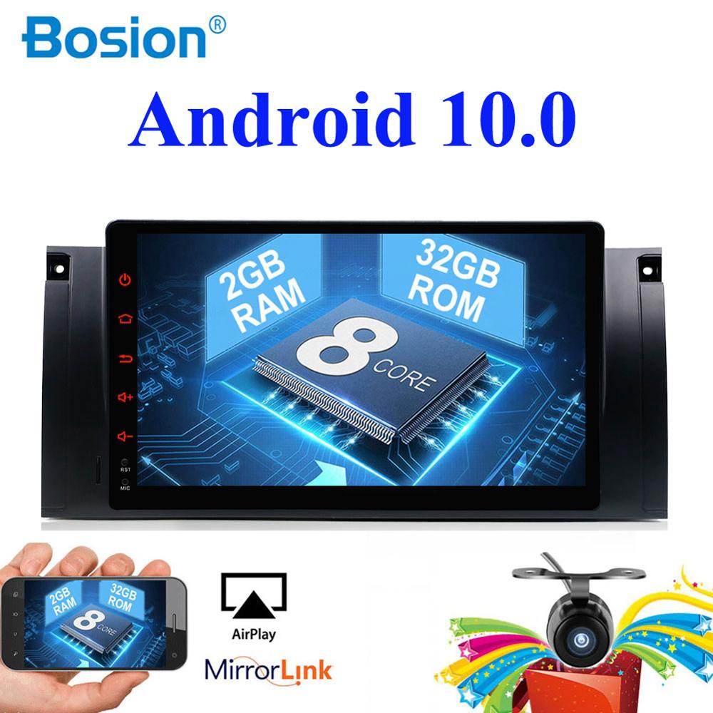 Single 1 din Car Multimedia Player Octa Core Android 10.0 GPS Stereo System For BMW 5 E39 E53 M5 1995-2003 Radio 32G ROM