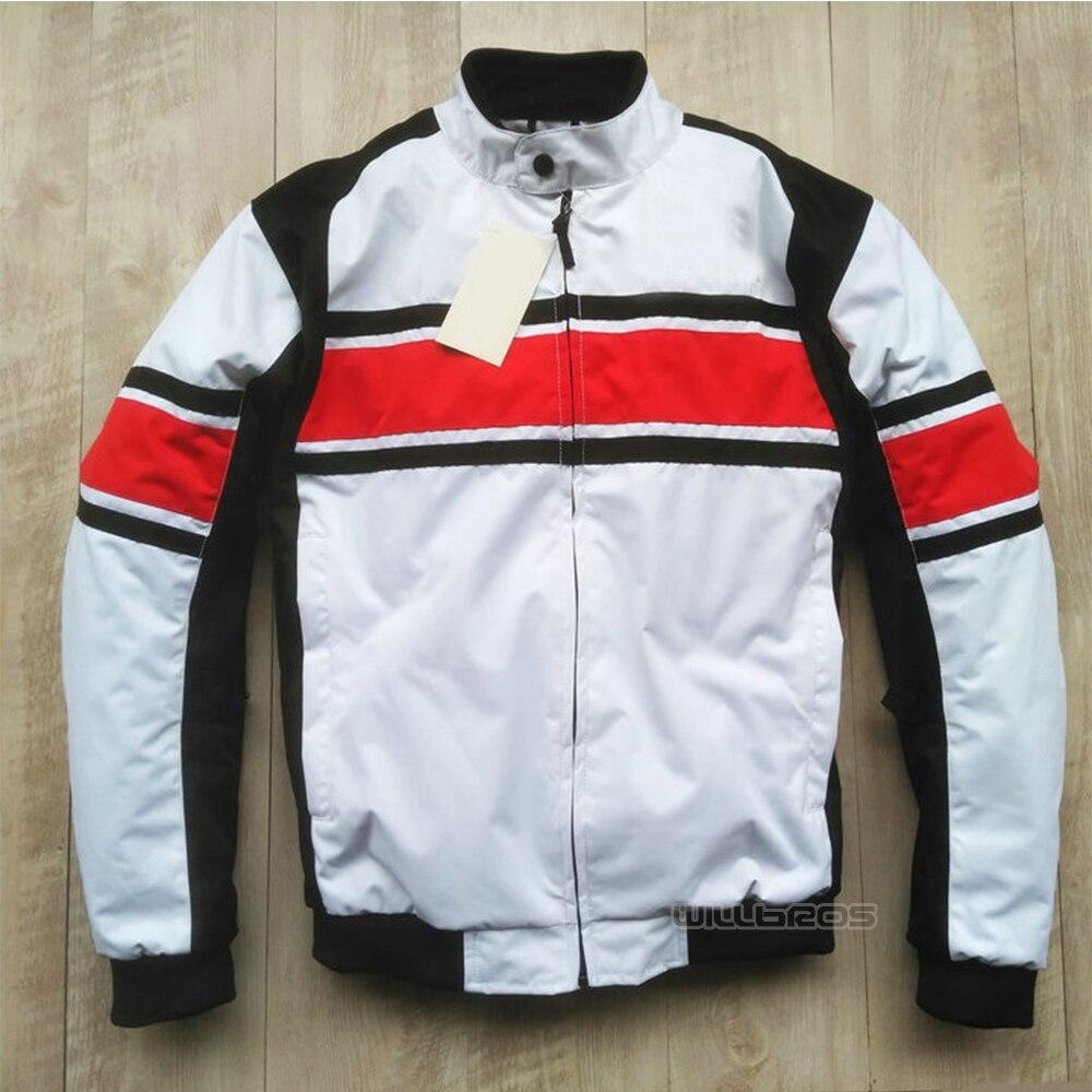 Veste noire blanche Motocross hors route moto vestes de vélo de montagne avec doublure en coton et protecteur