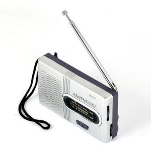 Image 1 - Mini Portable AM/FM Radio Telescopic Antenna Radio Pocket World Receiver Speaker Portable Radio Outdoor Silver Color