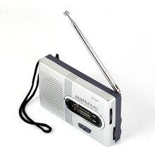 ミニポータブル am/fm ラジオテレスコピックアンテナラジオポケット世界レシーバスピーカーポータブルラジオ屋外シルバー色