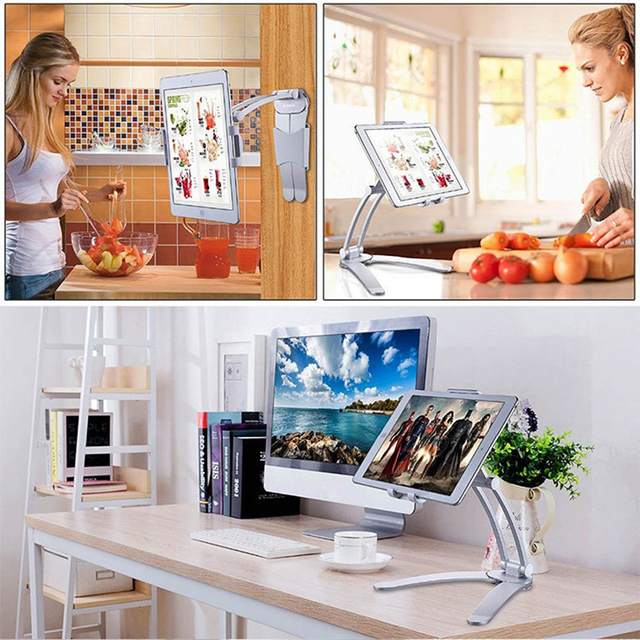 Rotating Portable Monitor Wall Desk Metal Stand Fit For Below 15.6inch monitor Tablet Mobile Phone Holders 5