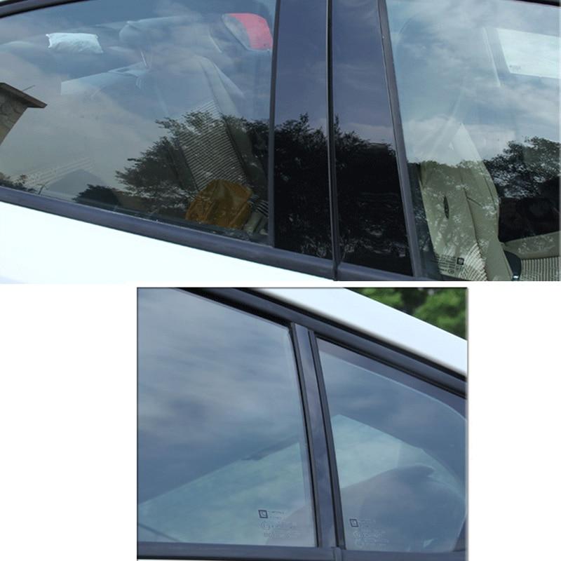 פלאזמה 6 / 8pcs Pillar חלון דלת המכונית הודעות פסנתר Trim כיסוי קיט Fit עבור BMW 3 Series 13-18 / 5 סדרה 11-17,18 / X3 11-18 / X5 09-18 (4)