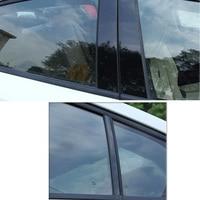 fit עבור הונדה crv סטיילינג רכב מדבקה לרכב דלת חלון Pillar הודעות פסנתר Trim כיסוי קיט Fit עבור הונדה CRV XRV סיוויק אקורד (4)