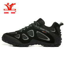 XIANG GUAN High Quality Hiking Shoes New Design Anti-slip Trekking Sneakers Men Outdoor Walking Climbing Shoes цена и фото