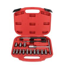 17Pcs Diesel Injector Sedile Cutter Fresa Set Universale Strumento di Auto Kit di Strumenti di Auto