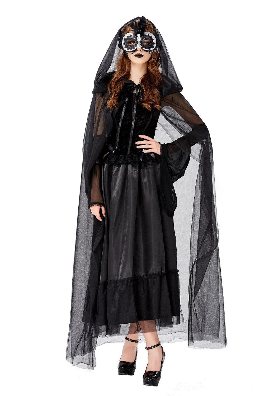 Halloween devil Cosplay Costume Women Ghost bride Vampire Fantasy Dress Terror Sister Party Disguise Female Fancy For Adults