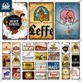 Putuo Decor Belgien Bier Marke Vintage Zinn Zeichen Metall Zeichen Dekorative Plaque Wand Dekor Pub Bar Mann Cave Club Dekoration