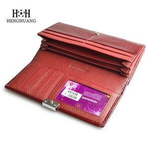 Image 5 - HH luksusowe prawdziwej skóry kobiet portfele patentu Alligator torba kobiece wzornictwo sprzęgła długo wielofunkcyjny uchwyt na monety karty