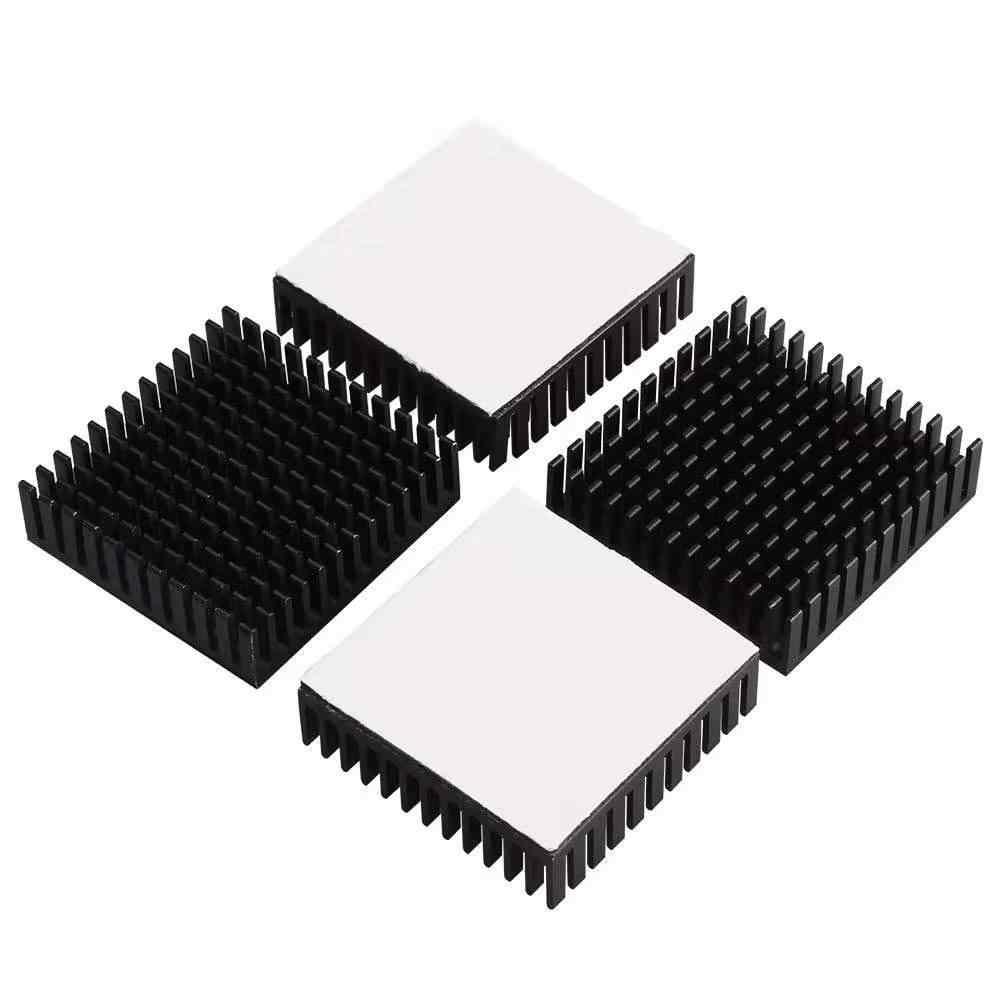4 個 3D プリントラジエーターアルミモーターヒートシンク押出熱放散電子ヒートシンク 42 ステッピングモータ