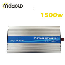 Off Grid SOLAR INVERTER 1500 วัตต์ (3000 W Peaking) 12/24/48VDC 110/220VAC PURE Sine WAVE Converter(China)