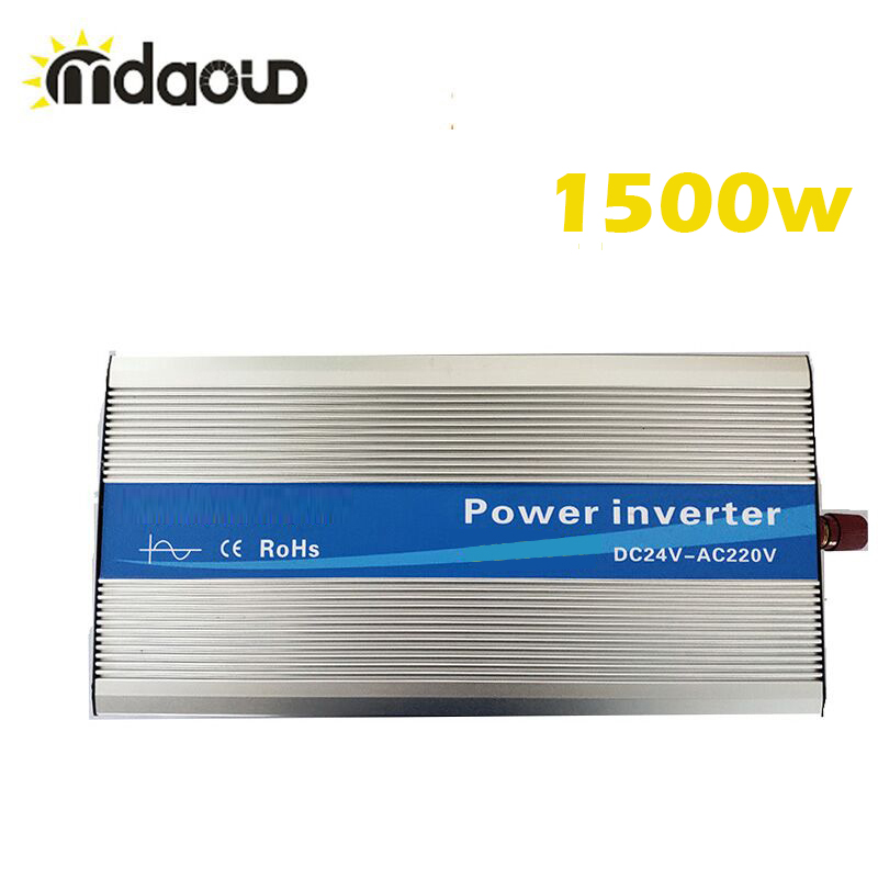 Off Grid Solar Inverter 1500Watt (3000w Peaking) 12/24/48VDC To 110/220VAC Pure Sine Wave Converter