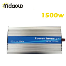 цена на FREE SHIPPING LED Display Off Grid Solar Inverter 1200Watt/2.4KW 12/24/48VDC to 110/220VAC Pure Sine Wave Power Inverter CABLES