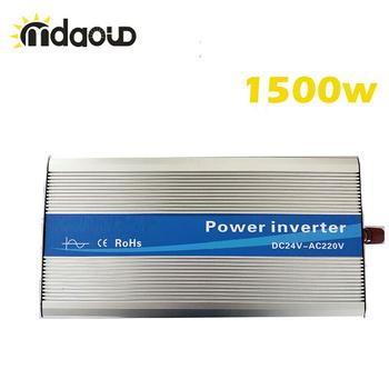 Off siatki falownik solarny 1500Watt (3000w osiągając) 12 24 48VDC do 110 220VAC czysta fala sinusoidalna konwerter tanie i dobre opinie mdaoud 50 60 1-200kw Pojedyncze 30*15*8