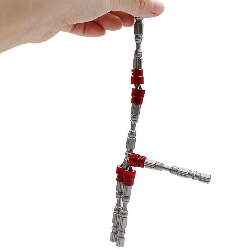 Chave de fenda elétrica, de alta qualidade, cabeça dupla, magnética, anel, parafuso, broca elétrica, vara, forte cruz