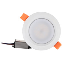 Luminária de led ip66 totalmente selada, à prova d água, 5w 7w 9w, branco quente e frio, ponto embutido concha branca claro AC85 277V