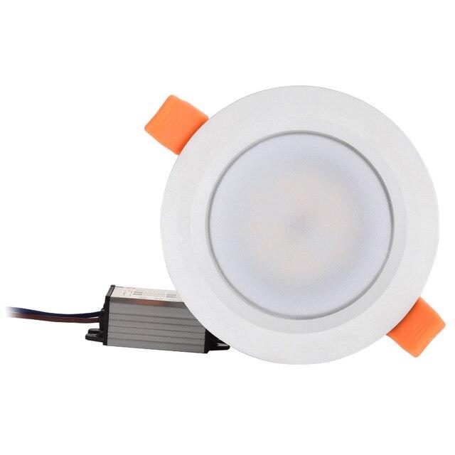 Su geçirmez LED tavan IP66 tamamen kapalı 5W 7W 9W sıcak beyaz soğuk beyaz gömme LED lamba Spot işık beyaz kabuk AC85 277V