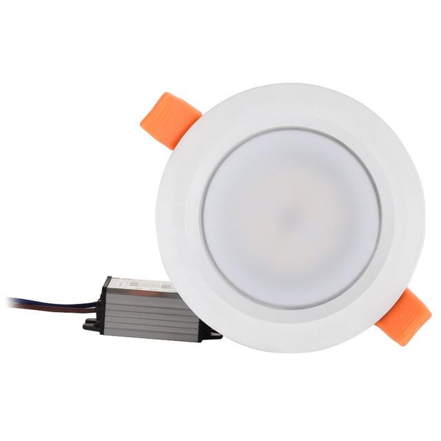 防水led天井IP66 完全密封された 5 ワット 7 ワット 9 ワットウォームホワイトコールドホワイト凹型ledランプスポット光ホワイトシェルAC85 277V