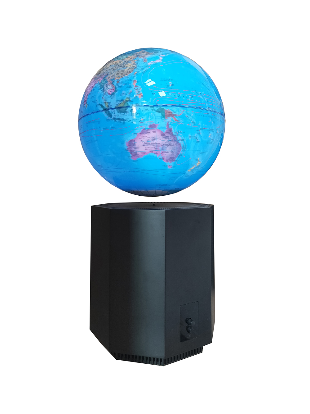 New Strange Gift Business Showing Room Office Desk Magnetic Levitation 8 Inch Earth Globe Auto Lifting Base   White LED Light