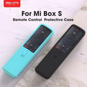 Image 1 - SIKAI Silikon Fernbedienung Fall Für Xiaomi Mi Box S TV Stick Fernbedienung Fall Weiche Plain Klappschlüssel Schutz Abdeckung