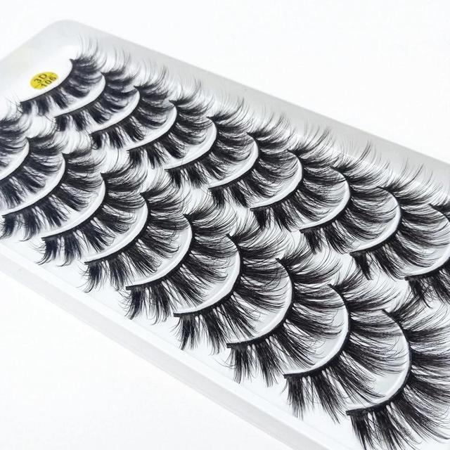 NEW5/10Pairs 3D Faux Mink Eyelashes Natural Thick Long False Eyelashes Dramatic False Lashes Makeup Extension Eyelash maquiagem 5