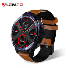 LEMFO reloj inteligente LEM12, dispositivo resistente al agua IP67, con pantalla grande de 1,6 pulgadas, Android 7,1, 3G + 32G, LTE, 4G, Sim, cámara Dual de 5MP + 8MP, GPS, deportivo