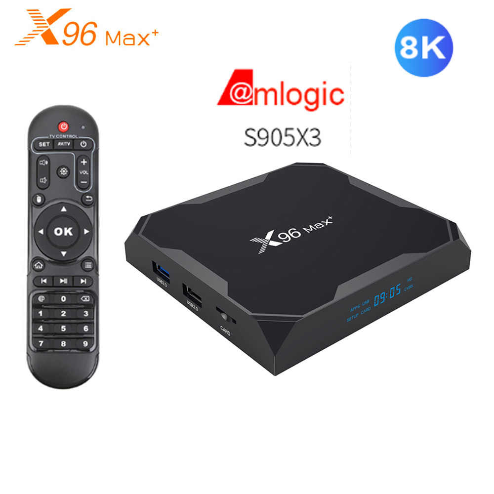 X96 Max Plus Amlogic S905X3 Android 9.0 smart tv Box 2.4G 5G Wifi 8K ultra hd VP9 HDR odtwarzacz multimedialny 1000M LAN BT4.0 dekoder