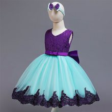 Sequin Halloween Carnival Dress for Toddler Princess Snow Pattern Ball Gown Clothing for Kids Christmas Party fantasia vestidos(China)