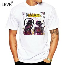 T Shirt Unisex Marracash Gue Pequeno Santeria hip hop nulla accade insta lova(China)