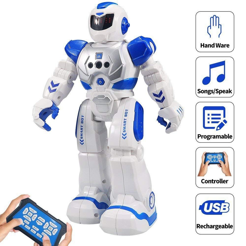 26cm Rc Remote Control Robot Smart Action Walk Sing Dance Action Figure Gesture Sensor Big Sizse Kids Gift Children's Toys