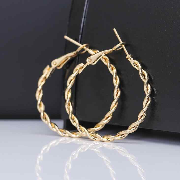 2019 gold earrings for women fashion large hollow circle earrings ball party nightclub gift girlfriend pledge earrings