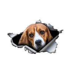 Индивидуальная Автомобильная наклейка beagle 3d виниловая Водонепроницаемая