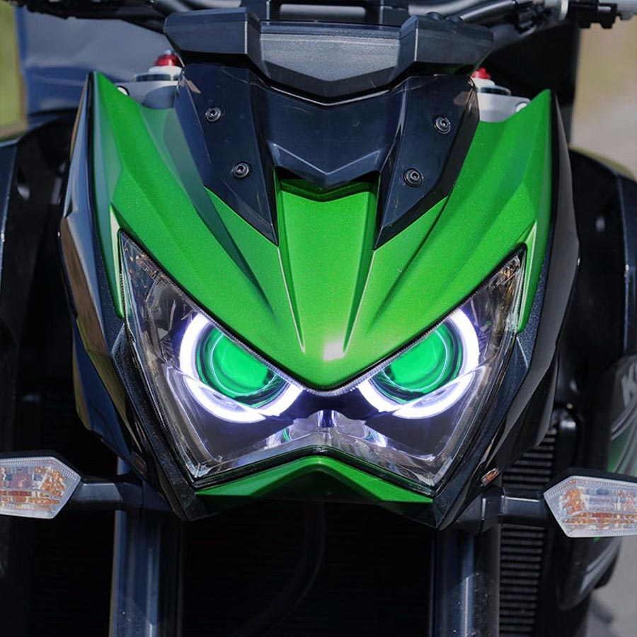 Motorcycle Custom Assembled Front Headlight Projector HID Headlight Fits For Kawasaki Z800 2013-2015,Z250 2013-2015,Z300