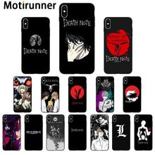 Death Note Kira Motirunner TPU Macio Silicone Case Capa Do Telefone para o iphone 11 XS pro MAX 8 7 6 6S Plus X 5 5S SE caso XR(China)
