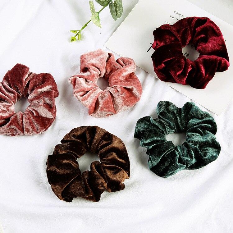 22 цвета, корейские Бархатные резинки для волос, эластичные резинки для волос, однотонные женские веревочки для девочек, головной убор, держа...