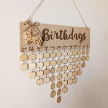 Tableau de rappel de noël, anniversaire, jours spéciaux, décoration suspendue pour la maison, calendrier en bois, décoration du nouvel an