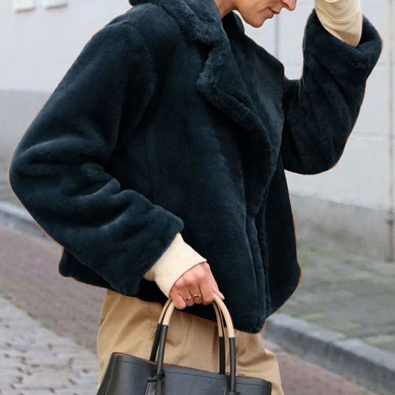 Teddy Coat Cozy-Jackets Oversized Faux-Fur-Coat Lamb Wool Plus-Size Winter Women High-Street