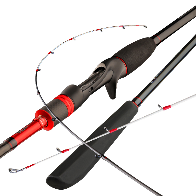 Кастинговое удилище для ловли кальмара, 2 секции, вес приманки 20-80 г, быстродействующая удочка для лодки, удочки для забрасывания, удочка для ...
