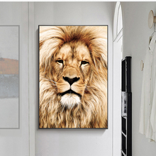 Modern Animal Art Wall Decor Lion Canvas Painting Wall Art Posters and Prints For Living Room Home Wall Pictures Cuadros Modular modern nordic elegant ballet dancer canvas painting wall art posters and prints for living room wall pictures home cuadros decor