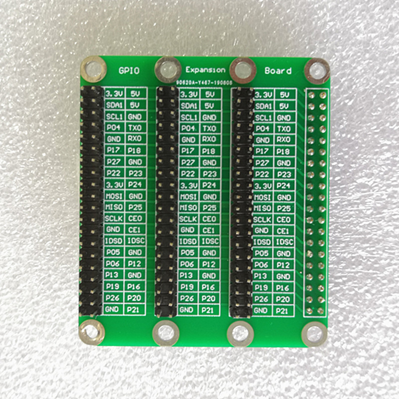 Raspberry <font><b>Pi</b></font> 4 Model B <font><b>3</b></font> x 40 Pin GPIO Adapter Extension <font><b>Board</b></font> 1 to <font><b>3</b></font> GPIO Module for <font><b>Orange</b></font> <font><b>Pi</b></font> Raspberry <font><b>Pi</b></font> 4B/3B+/3B image