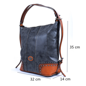 Image 2 - 2019 Female Vintage Luxury Genuine Leather Bags for Women Large Capacity Women Tote Bags Big Shoulder Bag Purses and Handbags