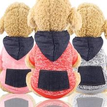 Осенняя и зимняя толстовка с капюшоном, одежда с карманами для ног, спортивная одежда для домашних животных, одежда для собак и кошек, товары для домашних животных